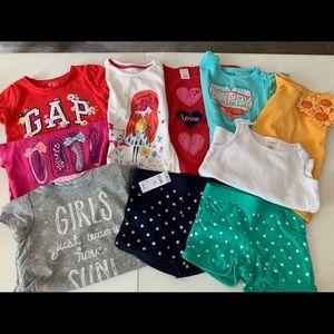 Gymboree & Baby Gap, 8 shirts & 2 shorts, size 4